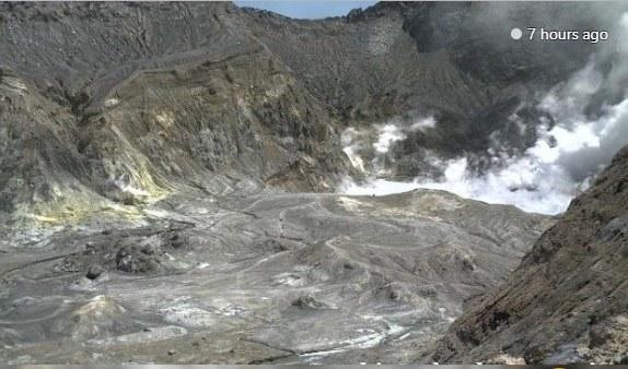 Obraz z kamery na Białej Wyspie /NEW ZEALAND INSTITUTE OF GEOLOGICAL AND NUCLEAR SCIENCES/HANDOUT /PAP/EPA