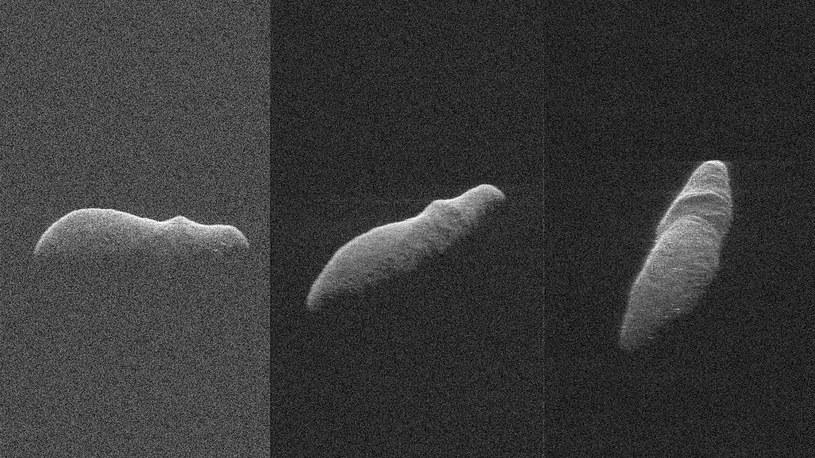 Obrazy radarowe 2003 SD220 z odległości pomiędzy 4,5 a 3,6 miliona km od Ziemi /NASA
