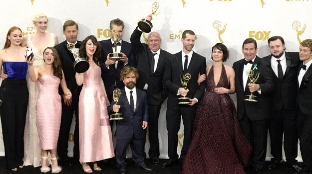 "Obsada ""Gry o tron"": Emmy 2015. /Kevork Djansezian /Getty Images"