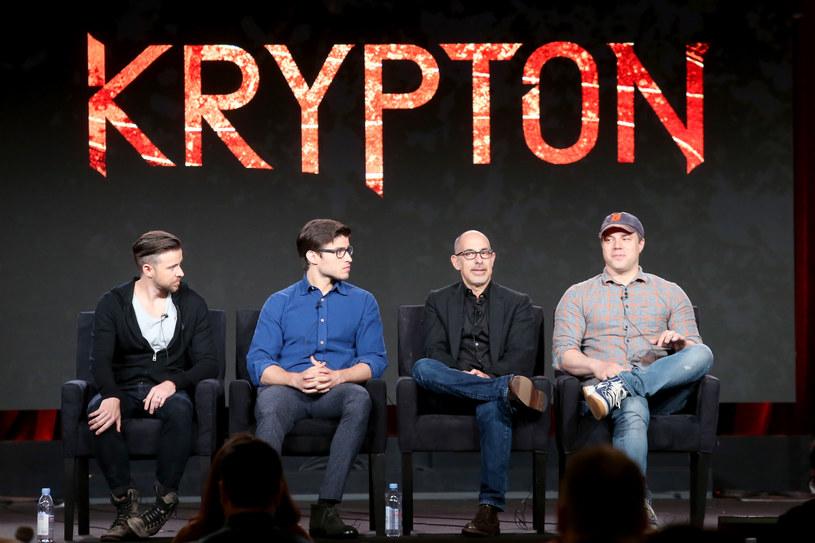 "Obsada i twórcy serialu ""Krypton"" /Frederick M. Brown /Getty Images"