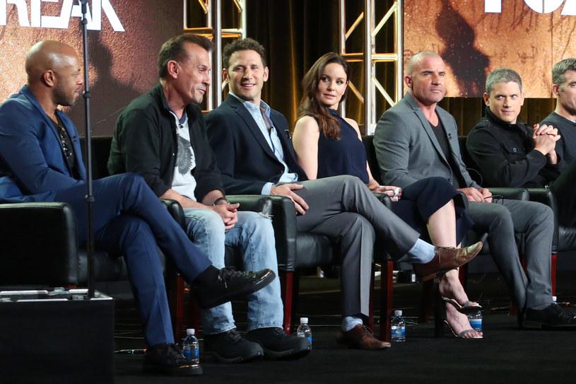 """Obsada """"Skazanego na śmierć"""" podczas TCA 2017. /Frederick M. Brown /Getty Images"""