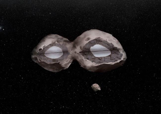 Obserwacje planetoidy 624 Hektor wykazały, że jest to bardzo niezwykły obiekt. /materiały prasowe