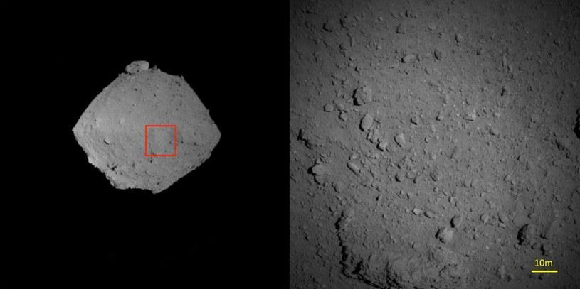 Obserwacje Ryugu z odległości mniejszej od 1 km - obrazy z 6 sierpnia 2018 /materiały prasowe