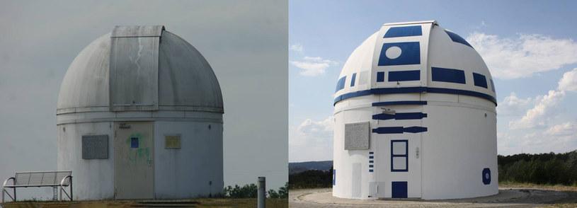 Obserwatorium astronomiczne przemienione w R2-D2 /materiały prasowe