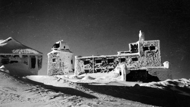Obserwatorium na górze Pop Iwan - widok zimowy /Archiwum Tomasza Basarabowicza
