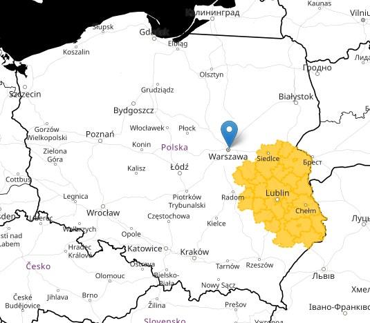 Obszary objęte ostrzeżeniem / meteo.imgw.pl /RMF FM