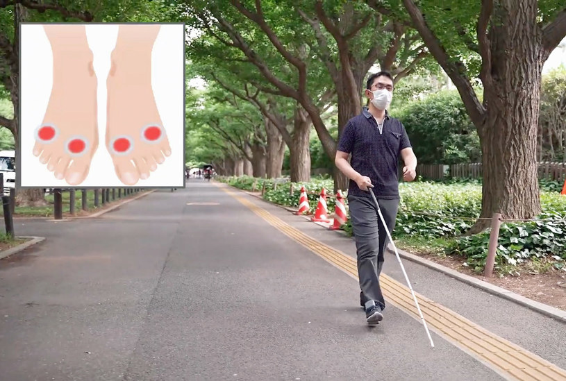 Obuwie pomoże osobom niewidomym /Honda/Ferrari Press/East News /East News