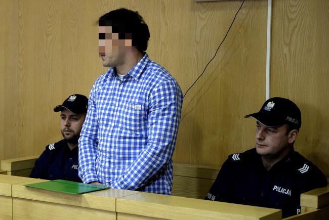 Obywatel Gruzji Beka B. na sali rozpraw w Sądzie Okręgowym w Krośnie /Darek Delmanowicz /PAP