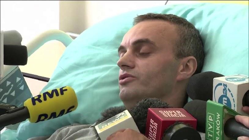 Ocalały spadochroniarz spod Częstochow /TVN24/x-news