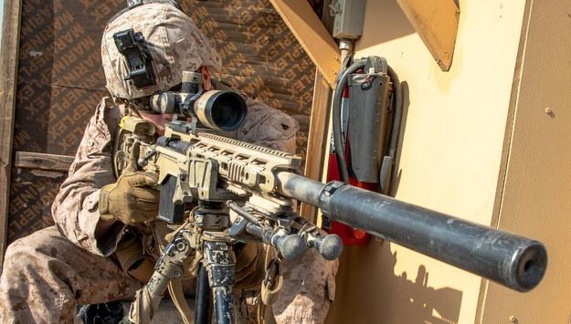 Ochrona w ambasadzie USA w Bagdadzie /KYLE TALBOT / US MARINE CORPS HANDOUT /PAP/EPA
