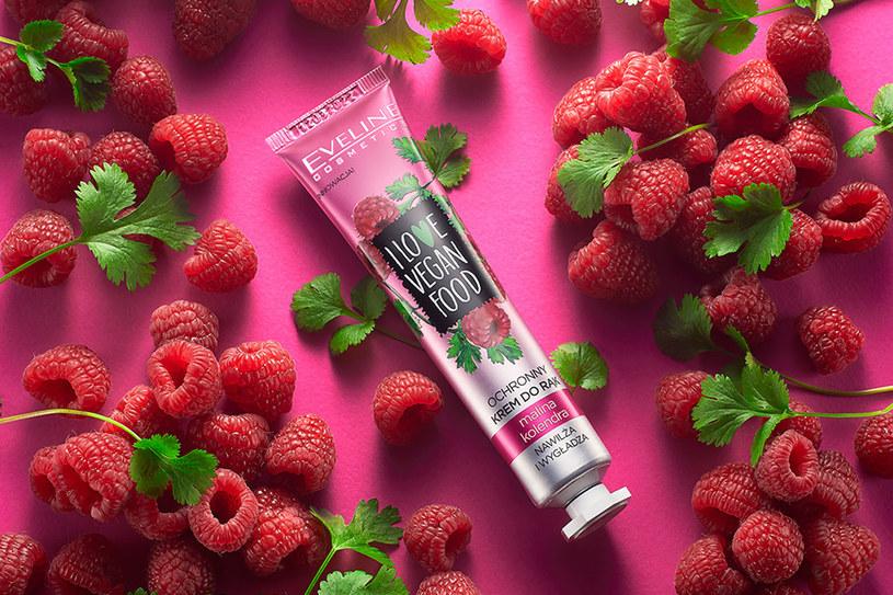 Ochronny krem do rąk I Love Vegan Food Eveline Cosmetics Malina & Kolendra /materiały prasowe