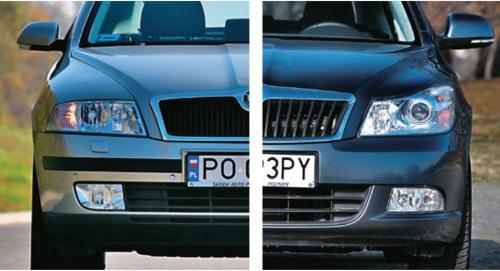 Octavia II po lifcie (z prawej) jest droższa od przedliftowej z tego samego rocznika nawet o 5000 zł. /Motor