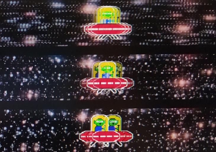 (od góry) 360 Hz vs. 180 Hz vs 90 Hz - policzcie ile widzicie UFO. Im więcej FPS i Hz, tym więcej informacji na ekranie. /ITHardware.pl