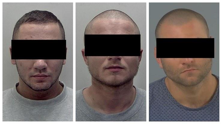 Od lewej: Adam L., Michał Sz. oraz Maciej S. /West Yorkshire Police /Polsat News