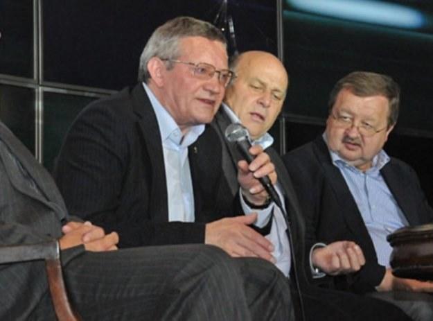 Od lewej: Adam Olkowicz, Grzegorz Lato i Zdzisław Kręcina. Fot. FaktyChicago.com /Informacja prasowa