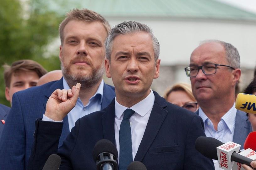 Od lewej: Adrian Zandberg, Robert Biedroń, Włodzimierz Czarzasty /Stefan Maszewski /Reporter