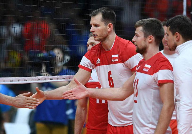 Od lewej: Bartosz Kurek, Michał Kubiak, Fabian Drzyzga /AFP