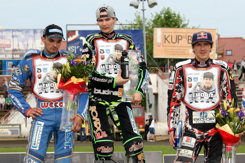 Od lewej: Bartosz Zmarzlik, Patryk Dudek i Maciej Janowski /Newspix
