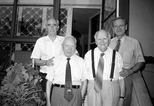 Od lewej: Bogumił Dąbrowski, Jan Stolarski, Henryk Zimmermann i Grzegorz Łubczyk* /