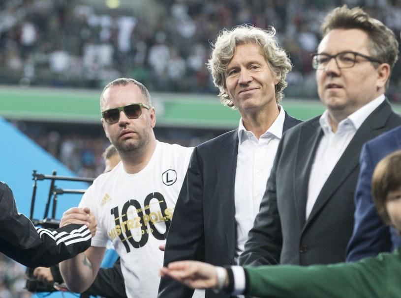 Od lewej: Bogusław Lesnodorski, Dariusz Mioduski i Maciej Wandzel /Andrzej Iwańczuk /Reporter
