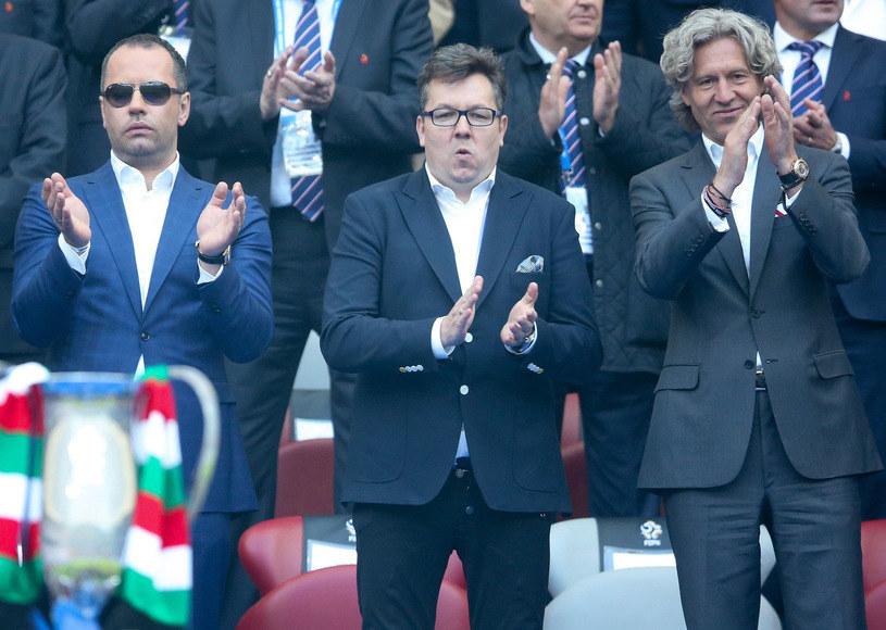 Od lewej: Bogusław Leśnodorski, Maciej Wandzel i Dariusz Mioduski /Andrzej Iwańczuk /Reporter
