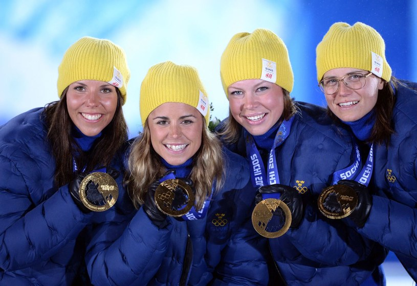 Od lewej: Charlotte Kalla, Anna Haag, Emma Wiken i Ida Ingemarstodder /AFP