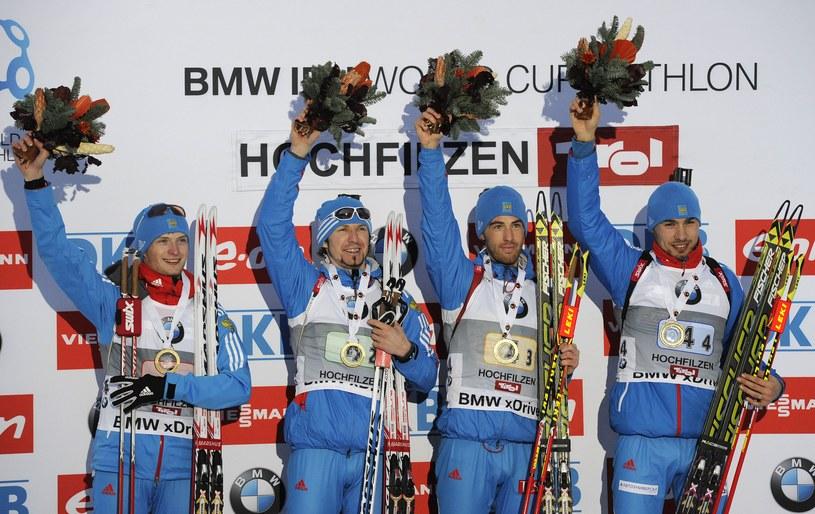 Od lewej: Cwetkow, Łapszyn, Małyszko i Szypulin /AFP