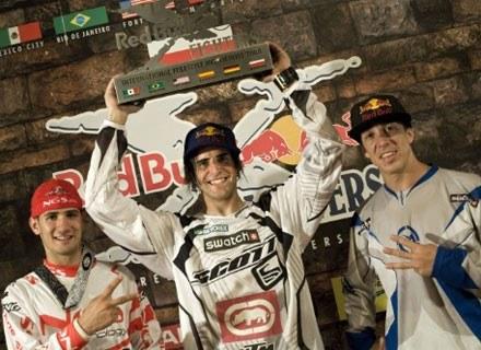 Od lewej: Dany Torres, Mat Rebeaud i Robbie Maddison. Fot.: Red Bull /materiały prasowe