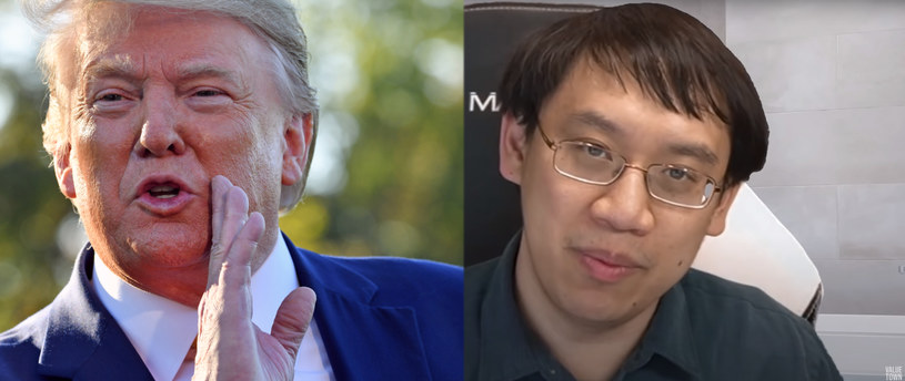 "Od lewej Donald Trump i Jeffrey ""Trump"" Shih /AFP"