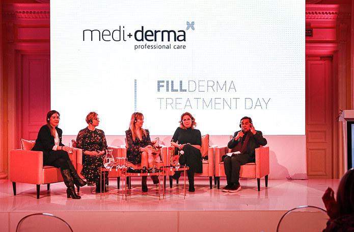 Od lewej: dr Carmen Faus, dr Elżbieta Kowalska – Olędzka, dr Aleksandra Jagielska, dr Ewa Rybicka, dr Gabriel Serrano (twórca marki Mediderma i Sesderma) /materiały promocyjne