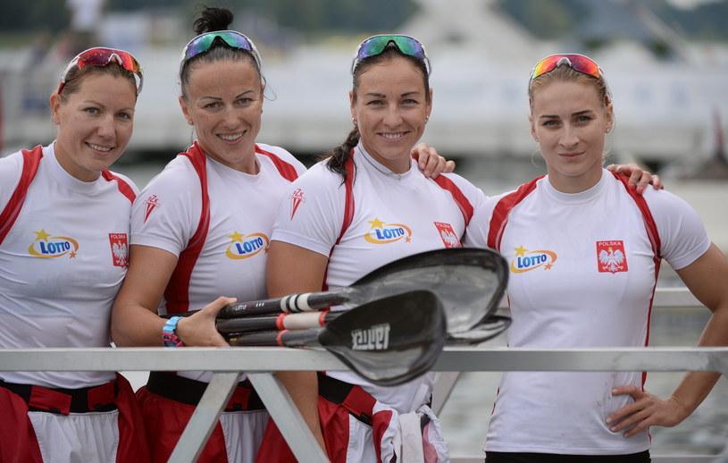 Od lewej: Ewelina Wojnarowska, Edyta Dzieniszewska-Kierkla, Beata Mikołajczyk i Karolina Naja po eliminacyjnym wyścigu /Bartłomiej Zborowski /PAP