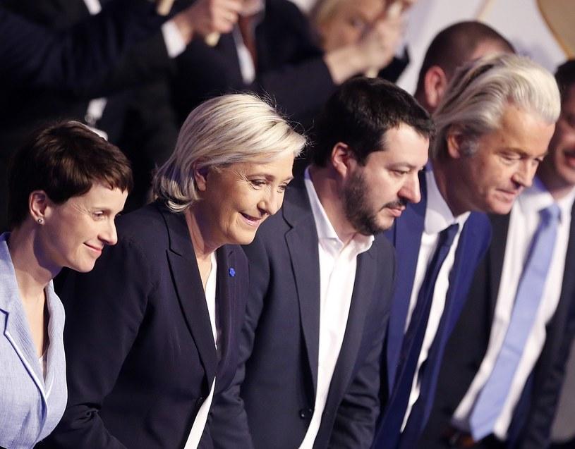 Od lewej: Frauke Petry, Marine Le Pen, Matteo Salvini i Geert Wilders /East News