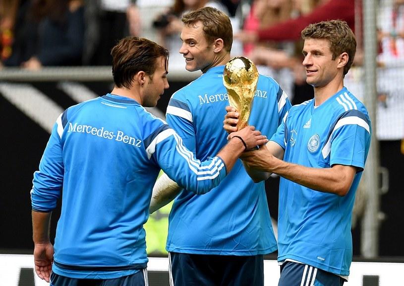 Od lewej: Goetze, Neuer i Mueller /AFP