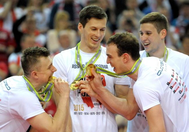 Od lewej: Ignaczak, Buszek, Ivović i Penczew /Darek Delmanowicz /PAP