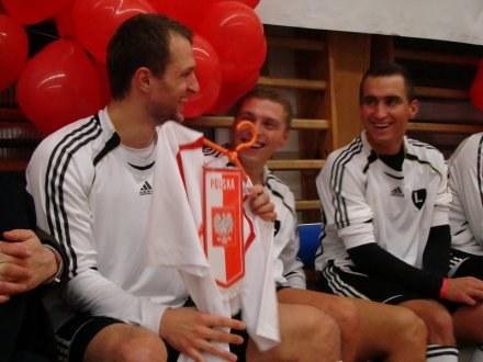 Od lewej: Jan Mucha, Maciej Iwański, Marcin Smoliński /legia.net