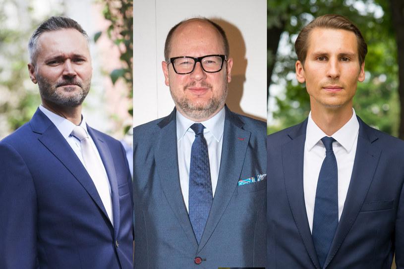 Od lewej: jarosław Wałęsa ( fot. Beata Zawrzel/REPORTER), Paweł Adamowicz (fot. Pawel Wiśniewski/EAST NEWS), Kacper Płażyński, (fot. Wojciech Stróżyk/REPORTER) /East News