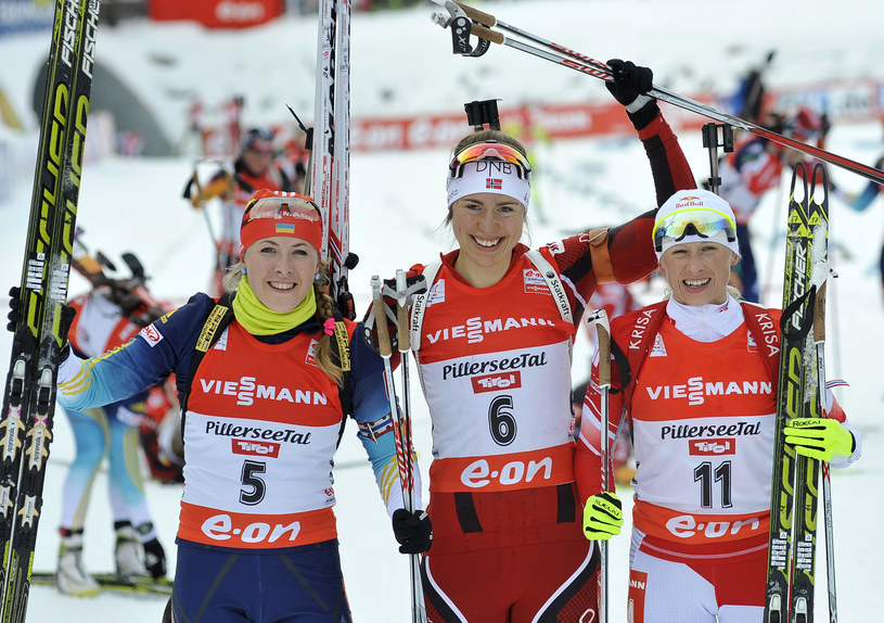 Od lewej: Julia Dżyma, Synnoeve Solemdal i Krystyna Pałka /AFP