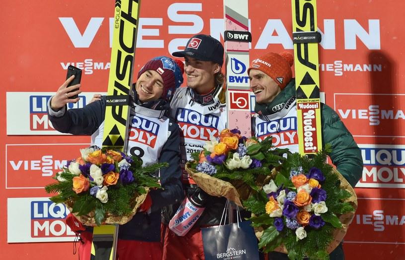 Od lewej: Kamil Stoch, Daniel Andre Tande i Richard Freitag /AFP