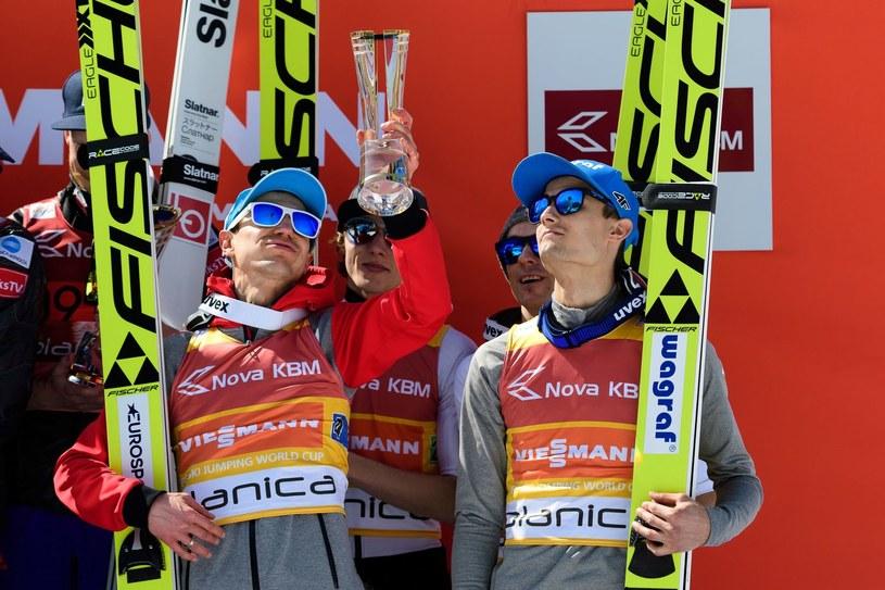 Od lewej: Kamil Stoch, Dawid Kubacki, Piotr Żyła i Maciej Kot /AFP