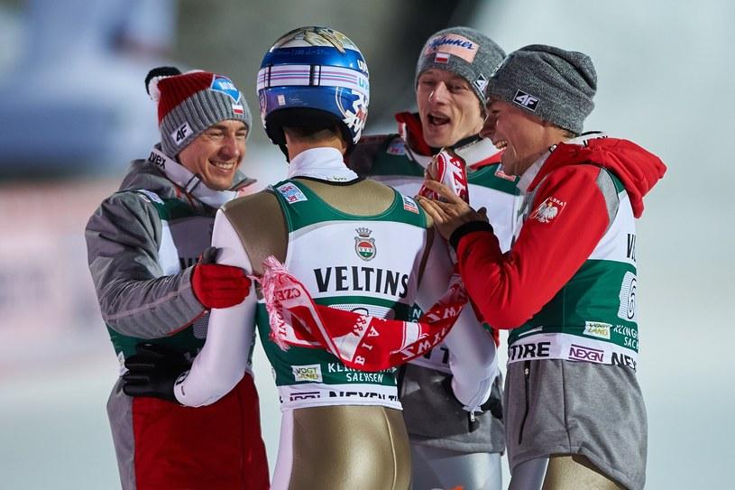 Od lewej: Kamil Stoch, Maciej Kot, Dawid Kubacki i Piotr Żyła /Łukasz Szeląg /Reporter