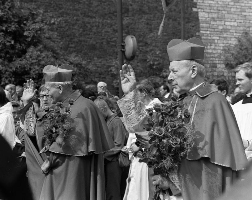 Od lewej: kardynał Karol Wojtyła, prymas Polski kardynał Stefan Wyszyński /FORUM /Agencja FORUM