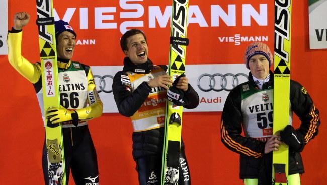 Od lewej: Kasai, Ammann i Freund /Grzegorz Momot /PAP