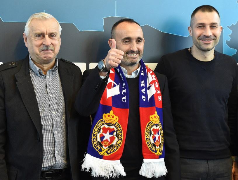 Od lewej: Kazimierz Kmiecik, Kiko Ramirez i Radosław Sobolewski /Jacek Bednarczyk /PAP