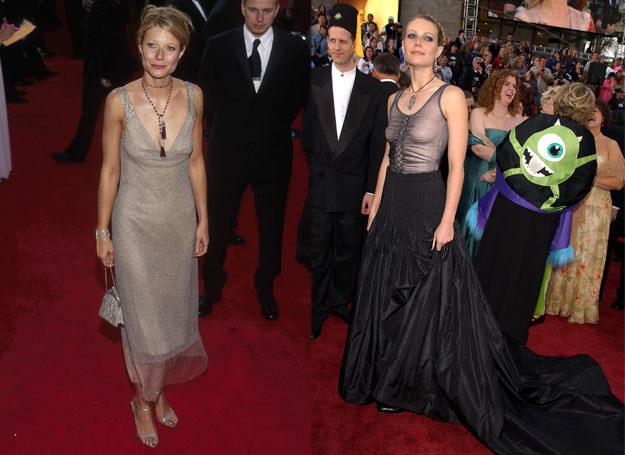Od lewej: kreacje Gwyneth z 2000 i 2002 roku /Getty Images