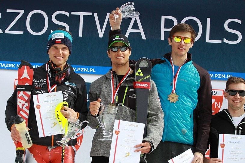 Od lewej: Maciej Bydliński, Adam Chrapek i Dominik Białobrzycki /Alicja Kosman /PZN