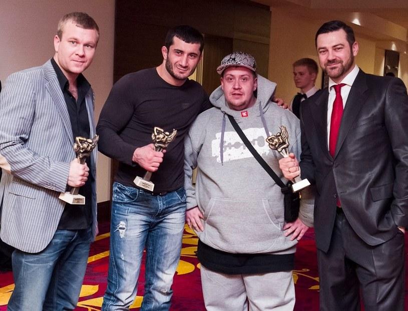 Od lewej Maciej Kawulski, Mamed Chalidow, Artur Przybysz i Martin Lewandowski, Fot. archiwum A. Przybysza /INTERIA.PL