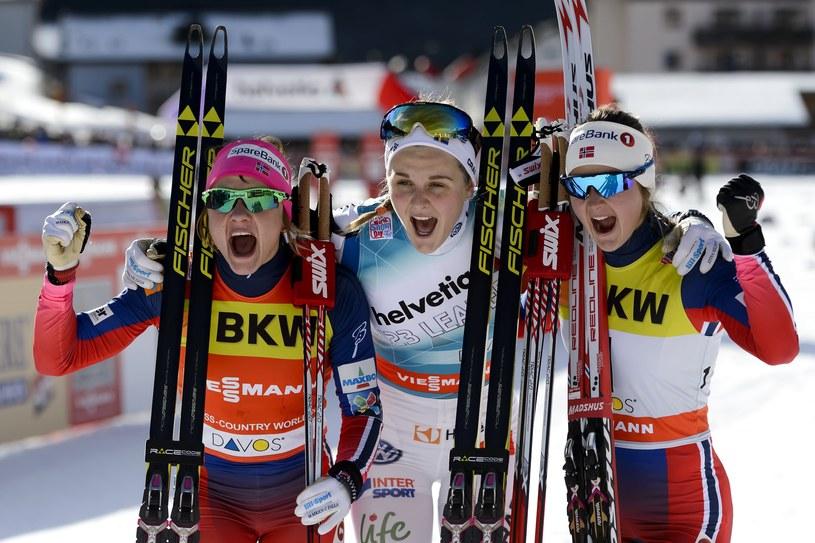 Od lewej: Maiken Caspersen Falla, Stina Nilsson i Ingvild Flugstad Oestberg /AFP
