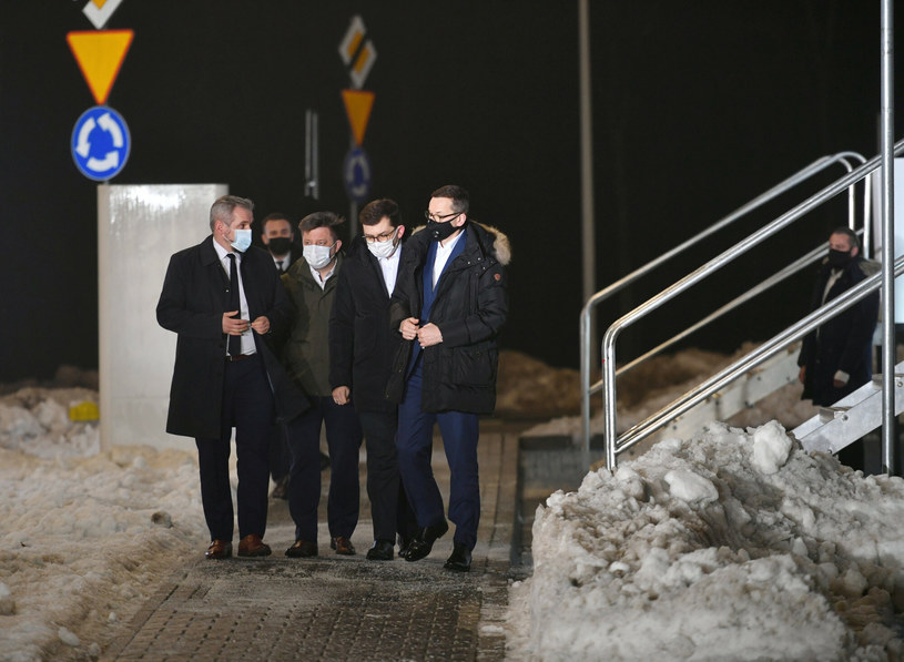 Od lewej: Marcin Jędrychowski, Michał Dworczyk, Łukasz Kmita i Mateusz Morawiecki 18 lutego w Krakowie /Artur Barbarowski /East News