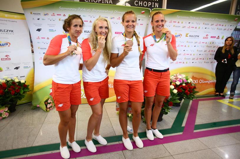 Od lewej: Maria Springwald, Agnieszka Kobus, Monika Ciaciuch i Joanna Leszczyńska /Leszek Szymański /PAP