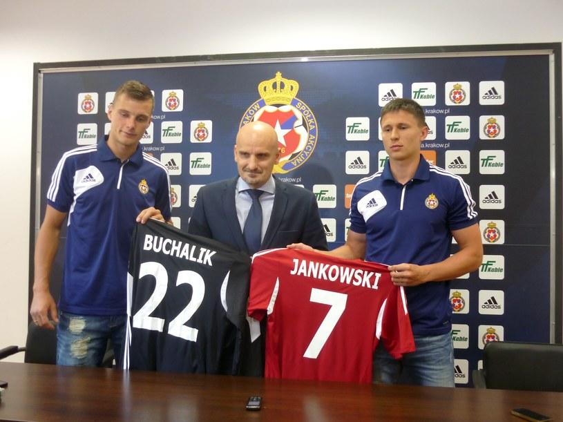 Od lewej: Michał Buchalik, prezes Jacek Bednarz i Maciej Jankowski /Michał Białoński /INTERIA.PL